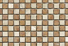 Stein Mosaik Marmormosaik schachbrett Rosso Verona/Botticino Anticato (1 Matte)
