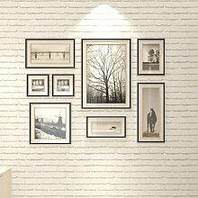Stein Stein Tapete Chinesische rustikalen Vintage 3D-PVC Exfoliator geprägte Abwaschbare Tapete Wohnzimmer Hintergrund WallCovering, 10 m, weiß, 5,3 qm.
