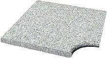 Steinbach Granit Beckenrandstein, Eckteil, grau, 43x43x3 cm, 1 L, 018110