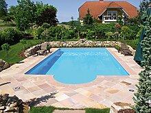 Steinbach Massivpool, Bausatz Classic 4 plus, blau, 900 x 500 x 145 cm, 65250 L, 016256