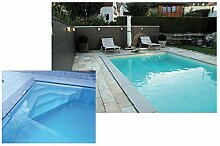 Steinbach Massivpool, Bausatz Classic de Luxe 2 plus, blau, 700 x 350 x 145 cm, 35525 L, 016272