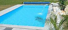 Steinbach Massivpool, Bausatz Classic de Luxe 3, blau, 800 x 400 x 145 cm, 46400 L, 016174