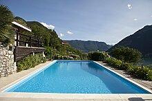 Steinbach Massivpool, Bausatz Classic de Luxe 3 plus, blau, 800 x 400 x 145 cm, 46400 L, 016274
