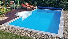 Steinbach Massivpool, Bausatz Highlight de Luxe 4, blau, 900 x 500 x 145 cm, 65250 L, 016296