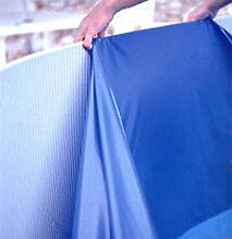 Steinbach Poolfolie, oval, blau, 7,32 x 3,66 x 1,50 m, Stärke 0,6 mm, 011943