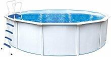 Steinbach Stahlwandpool Set Nuovo de Luxe II, weiß, 360 x 360 x 120 cm, 11000 L, 012140