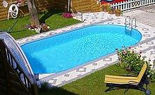 Steinbach Stahlwandpool Set Styria Oval, weiß, 490 x 300 x 120 cm, 13800 L, 012245