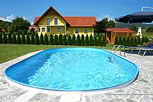 Steinbach Stahlwandpool Set Styria Oval, weiß, 625 x 360 x 150 cm, 26600 L, 012270