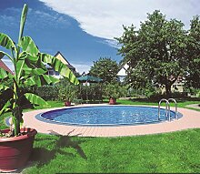 Steinbach Stahlwandpool Set Styria, weiß, 500 x 500 x 120 cm, 21200 L, 012220