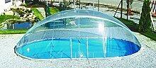 Steinbach Überdachung, Cabrio Dom für ovale Becken, transparent, 730 x 370 x 165 cm, 036524