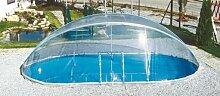 Steinbach Überdachung, Cabrio Dom für ovale Becken, transparent, 550 x 360 x 165 cm, 036521