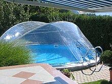 Steinbach Überdachung, Cabrio Dom für runde Becken, transparent, 500 x 500 x 165 cm, 036504