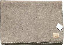STEINBECK Schwere ecru-beige Wolldecke aus 100%