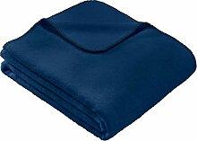 STEINBECK Wohndecke Wolle blau Größe 150x200 cm