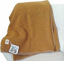STEINER 1888 Kuschel Wolldecke Farbe Safran 190x150cm