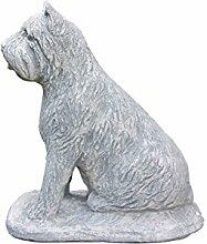 Steinfigur Bouvier des Flandres, Hund, Tierfigur