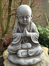 Steinfigur Buddha Figur Skulptur Garten Deko-Koi