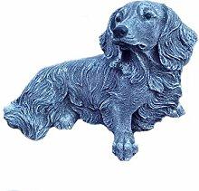 Steinfigur Dackel Langhaar Teckel Hund Tierfigur