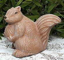 Steinfigur Eichhörnchen - Terrakotta, Deko Figur