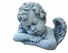 Steinfigur Engel Flügel Grabschmuck Gartenfigur