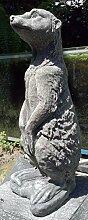 Steinfigur Erdmännchen Baby Deko Garten Tier Tierfigur Gartenfiguren NEU 26 cm