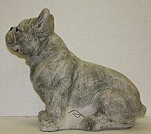 Steinfigur Französische Bulldogge, Hund,