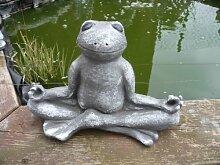 Steinfigur Frosch für Garten Deko-Tier Figur -Koi