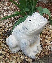 Steinfigur Frosch Gartenfigur Figur Steinguss