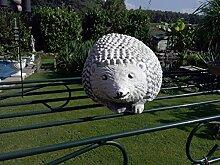 Steinfigur Gartenfigur Igel ca. 2 kg Frostfest Wasserfest Stein Nr.096