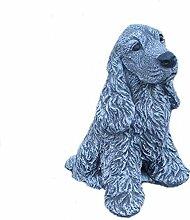 Steinfigur Gartenfigur Tierfigur Hund Cocker