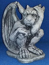 Steinfigur großer Mystischer Flug Gargoyle Torwächter Drache Teufel ca. 7 Kg