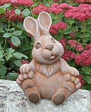 Steinfigur Hase groß sitzend - Terrakotta, Figur, Deko, Garten, Osterdeko, Osterhase