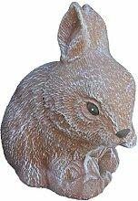 Steinfigur Hase Zwergkaninchen, Gartenfigur