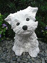 Steinfigur Hund 125/5, Gartenfigur Steinguss