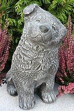 Steinfigur Hund groß, Gartenfigur Steinguss