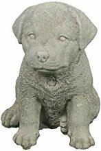 Steinfigur Hund, Kleiner Rottweiler, Gartenfigur,