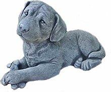 Steinfigur Hund Labrador Tierfigur Steinguss