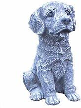 Steinfigur Hund Labrador Welpe Tierfigur