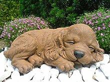 Steinfigur Hund schlafend 153/2, Gartenfigur