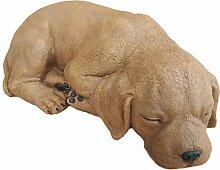 Steinfigur Hund schlafend 191/2, Gartenfigur