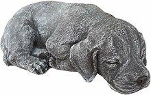 Steinfigur Hund schlafend 191, Gartenfigur
