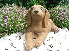 Steinfigur Hund Welpe 124/2, Gartenfigur Steinguss