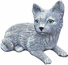 Steinfigur Katze Mieze Deko Garten Tier Tierfigur
