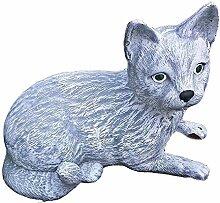 Steinfigur Katze Tierfigur Gartenfigur NEU 03