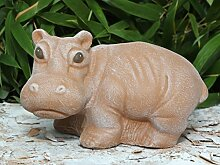 Steinfigur Nilpferd - Terrakotta, Hippo, Garten,