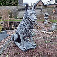 Steinfigur Schäferhund Hund Wolf Tierfigur H.70