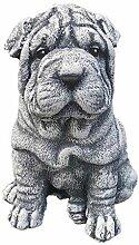 Steinfigur Shar-Pei, Frost- und wetterfest bis