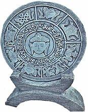 Steinfigur Trittplatte zum Aufstellen Wandrelief