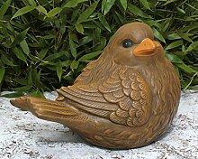 Steinfigur Vogel Hellbraun, Deko Figur Garten
