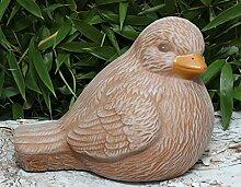 Steinfigur Vogel Terrakotta, Deko Figur Garten